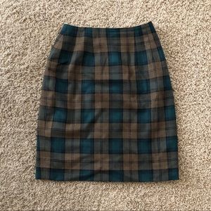 Vintage plaid skirt Lands End Scotland